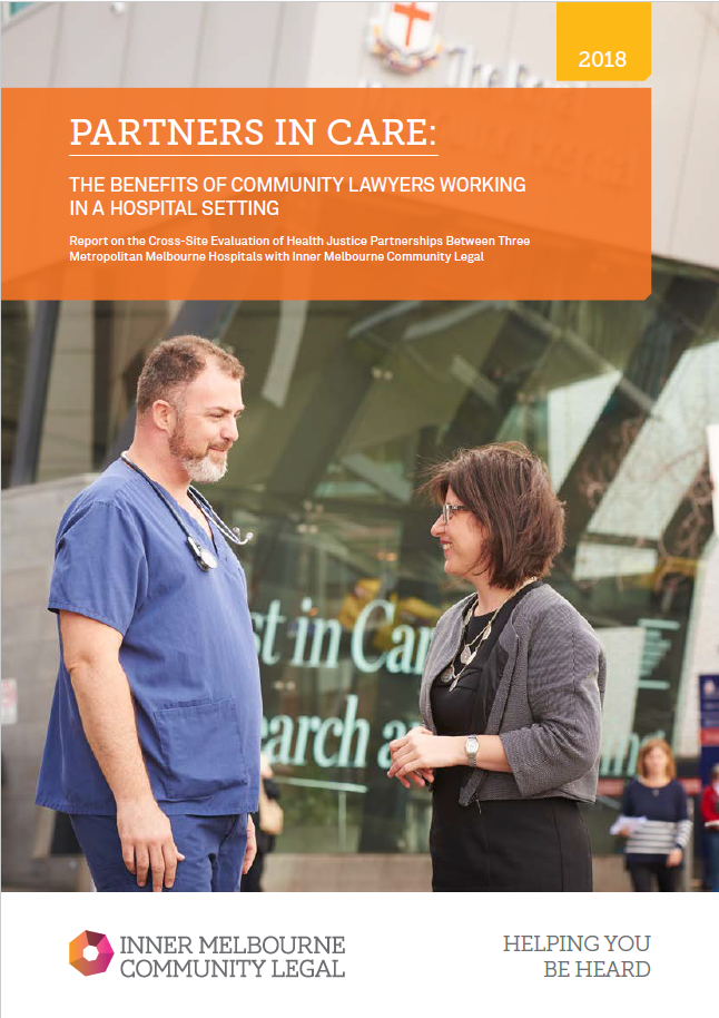 Partners In Care: The Benefits of Community Lawyers Working In A Hospital Setting